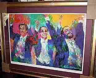 Leroy Neiman Double Signed LithographThe Three Tenors