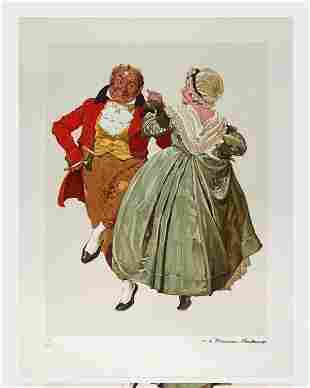 Norman Rockwell GoldEd Lithograph Dancing Partners