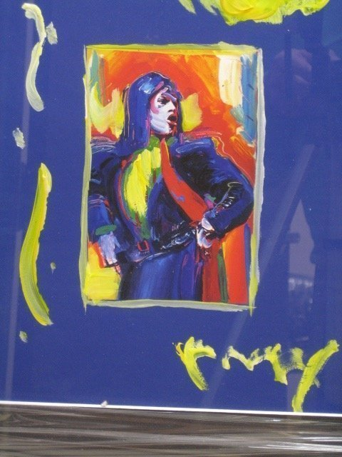 Exquisite original Peter Max mixed media Blue Jagger