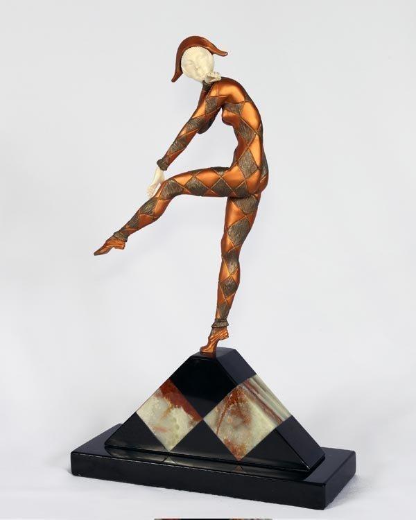 Harlequinade - Bronze & Ox Bone Sculpture by A. Gilbert