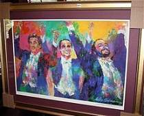 Leroy Neiman Double Signed Lithograph,The Three Tenors