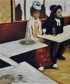 "Signed Limited Edition Oil ""L'Absinthe Edgar Degas"""