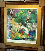 "Exquisite Double signed ""Mixed Doubles"" by Leroy Neiman"