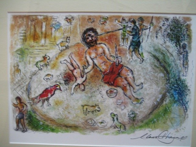 Exquisite Marc Chagall signed and nicely framed origina