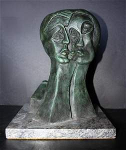 Amazing P Picasso Signed Bronze ED on 30 - Three Face