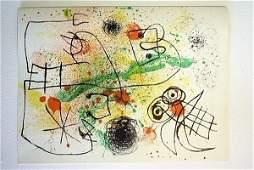 Exquisite and Rare Joan Miro Original Signed Lithograph