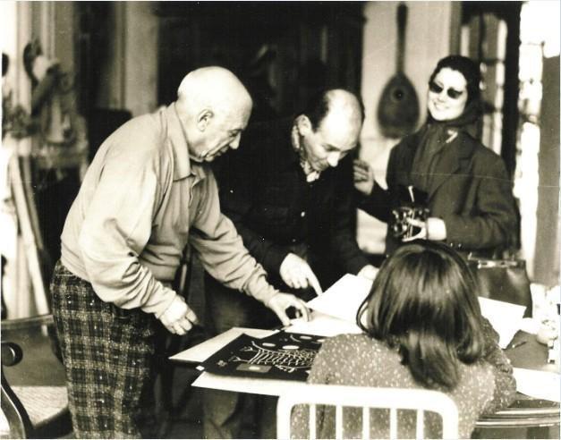 P Picasso Original Lithograph Jacqueline Black AP- COA - 3