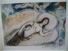 Marc Chagall Signed From The Odyssey Suite COA