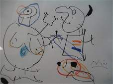 Wonderful Original Miro Drawing on paper Signed COA