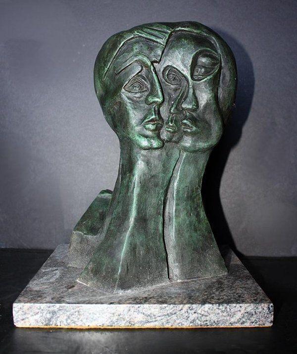 Amazing P Picasso Signed Bronze ED on 30 - Three Fac