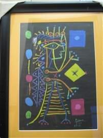 P Picasso Original Lithograph Jacqueline Black AP- COA
