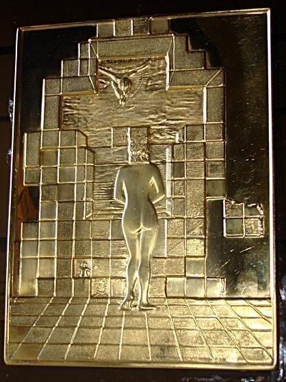 Dali Gala Plaque Bronze On Plexi Rare