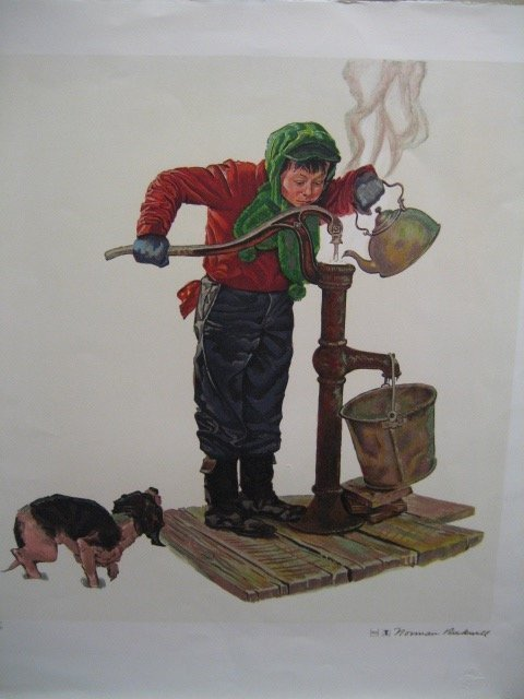Framed Lithograph Norman Rockwell 445: Framed Lithogra
