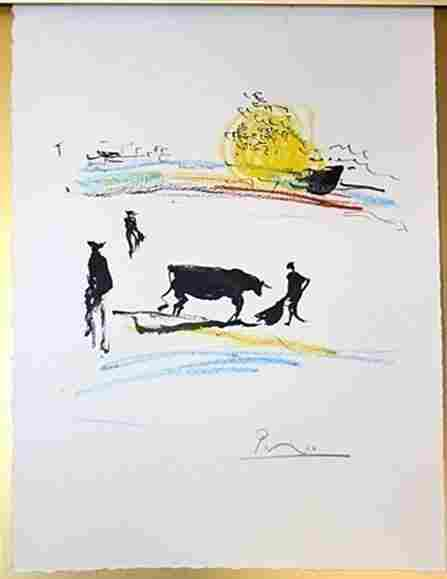 Signed By P Picasso Original - Don Quichote