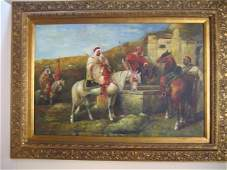 Amazing Original Oil /Canvas Signed Spore Orientaliste