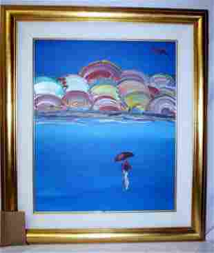 Exquisite Peter Max Original Oil On Canvas - SAGE