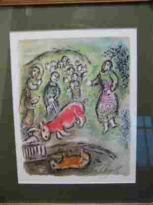 Marc Chagall Signed From The Odyssey Suite COA E
