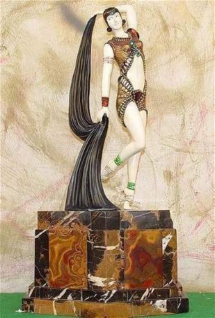 Yambo - Bronze On Onyx Sculpture by Chiparus EDIT EDIT