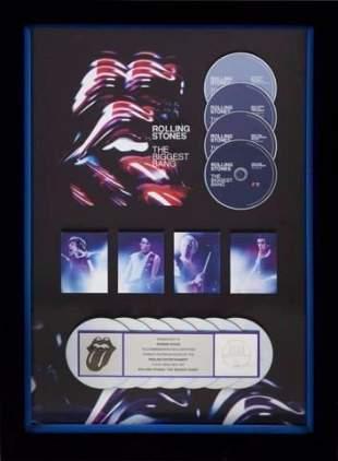 PRESENTED TO RON WOOD 7000000 DVD SALES AWARD RIAA