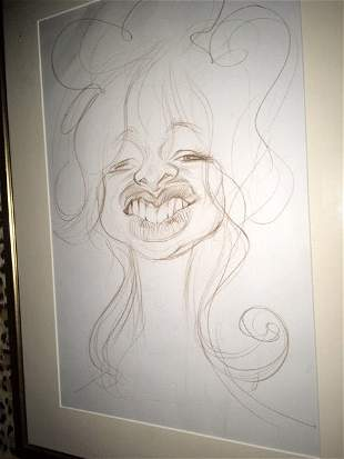 FROM RON WOOD COLL STONES JO WOOD CARICATURE S KRUGER