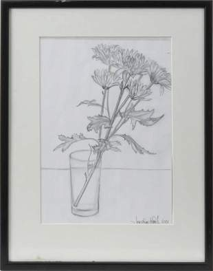 FROM RON WOOD COLL STONES JO WOOD DRAWING SIGNED