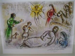 Marc Chagall Signed From The Odyssey Suite EDIT