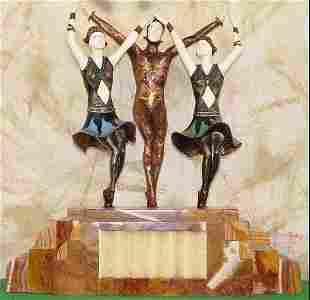 Finale - Bronze, Ox Bone & Onyx, Sculpture by Chiparus