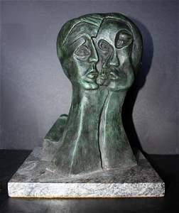 Amazing P Picasso Signed Bronze ED / 30 - Three Faces