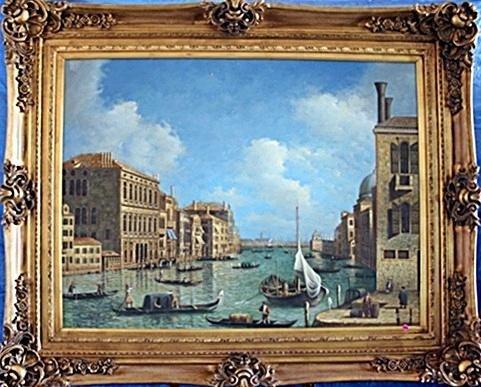 19th Century Original Oil On Canvas Signed Borrow