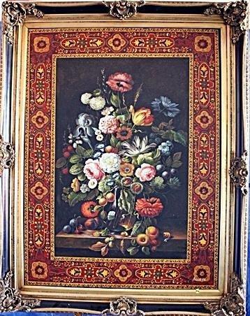 Monumental 19th Original Oil On Canvas Signed Austen