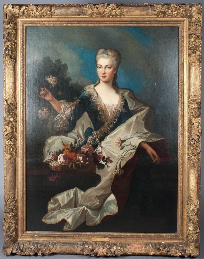 Nicolas de Largilliere Att. Oil Painting On Canvas