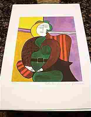 Picasso Signed and Numbered Lithograph - Red Armchair