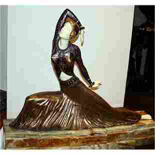 Chiparus-Bronze & Ivory Sculpture-Clara