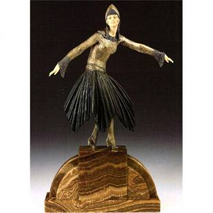 Signed Chiparus Bronze and Ivory - Starlight