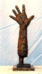 Picasso exciting Original Bronze Sculpture - Help Hand