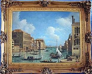 19th Century Original Oil On Canvas Signed Borrow COA