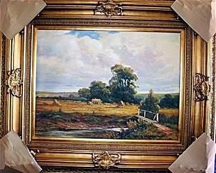 Wonderful European Original Oil On Canvas Signed Deluca