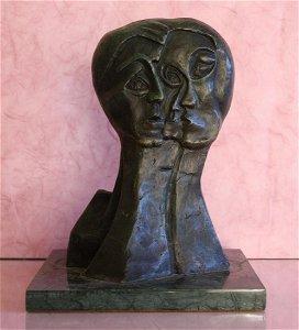 Picasso Signed Ltd Edition Bronze  1/299  - Three Face