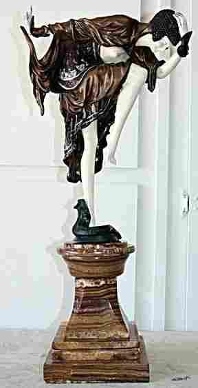 Danseuse D'Ankara - Bronze & Ivory Sculpture Colinet
