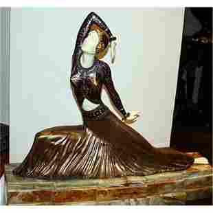 Exceptional Chiparus-Bronze & Ivory Sculpture-Clara