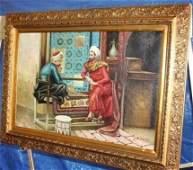 Exquisite Oil On Canvas Signed Spore Orientaliste