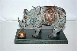 Salvador Dali RHINOCEROS Bronze Sculpture 6/299