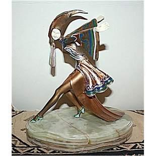 Gerdago Signed Bronze & Ox Bone - Corrina (Rare)