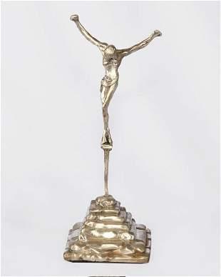Dali Full Silver Sculpture - St- John On The Cross Rare