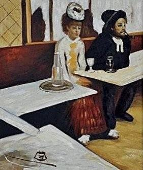 """Signed Limited Edition Oil """"L'Absinthe Edgar Degas"""""""