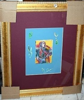 Exquisite Original Peter Max Mixed Media Mick Jagger
