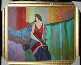 Exquisite Tarkay Original Oil On Canvas ( Lucy ) Coa