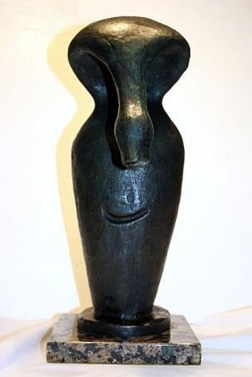 Exceptional Pablo Picasso Bronze Signed ( Face )