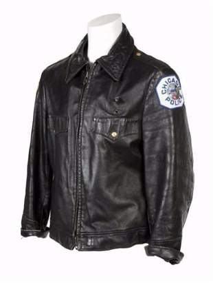 From Ron Wood coll Show Jacket Leather (Chicago Police)