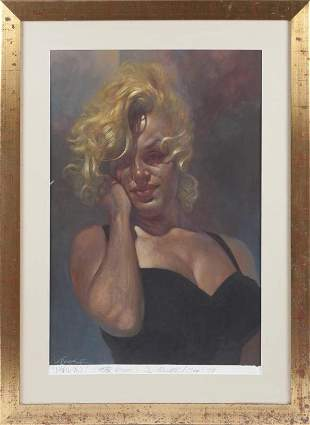 GIFT TO RON WOOD FROM FAMOUS SEBASTIAN KRUGER (MARILYN)
